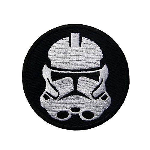 Scout Uniform Shirt (Rund Schwarz & Weiß Stormtrooper Star Wars Aufbügeln/Aufnähen Auf bestickt Patch)