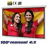 Pantalla de proyeccion manual de 100'