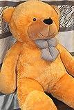 Golden Brown 5 Feet Bow Teddy Bear