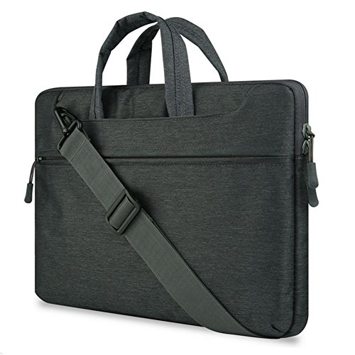 "GADIEMENSS Water-resistant Laptop Shoulder Briefcase Bag Portable Computer case handbag For Apple Macbook Air Pro 13.3"" Black"