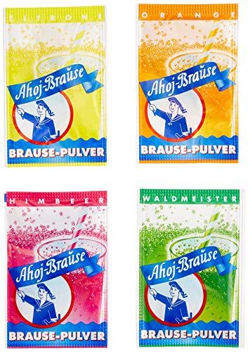 Ahoj-Brause Pulver für ein herrlich prickel-frisches Getränk zum Trinken - 4 verschiedene Geschmacksrichtungen Kultbrause: Himbeere, Orange, Zitrone oder Waldmeister - 500 Beutel in der Tüte 2.9 kg