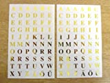 7mm Gold Alphabet Letters on Clear Transpapent Square Labels , Self Adhesive Sticky Vinyl Labels , Durable Plastic Stickers