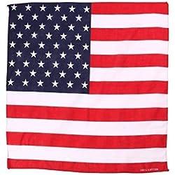 Bandana de la bandera americana USA cabeza/bufanda de cuello