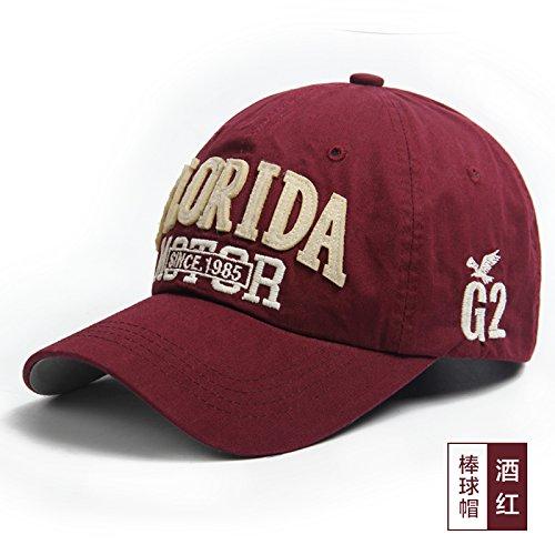 FQG*La tendenza del cappello da baseball Cappelli Cappello coppie hip hop cap sunscreen cappello da baseball hat Street , Pac gli uomini e le donne del vino rosso