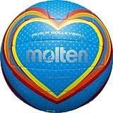 Freizeitball, weiches Synthetik-Leder, maschinengenäht - Farbe: Blau/Rot/Gelb, Größe: 5