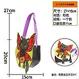 HOMEE Section de sacs à main de Halloween Diy Sweets Gift Bag Enfants Accessoires Pumpkin Bat Spectre Squelette, sac à main de sorcière de bricolage,DIY