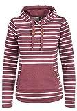 BlendShe Carina Damen Hoodie Kapuzenpullover Pullover Mit Kapuze, Größe:XL, Farbe:Zinfandel (73006)