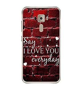 Fuson Designer Back Case Cover for Asus Zenfone 3 ZE552KL (5 Inches) (everyday heart pyar prem ishq mohabbat)