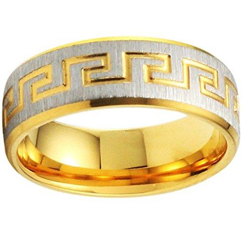 Aooaz Schmuck Herren Ring,Klassische Biker Edelstahl Ring für Herren Silber Gold