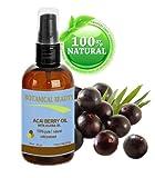 Acai-Beere Öl 100% Natürlich/Kaltgepresst für Gesicht Körper Und Haar 60ml Von Amazon Rainforest