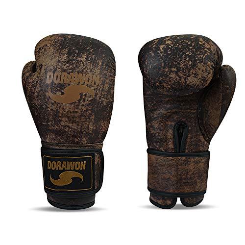 Dorawon Vintage Boxhandschuhe Leder Competition Unisex Erwachsene 397 g braun -