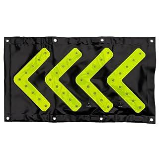 Faltleittafel LED - Pfeiltafel, Verkehrsleittafel für die Autobahn, Reflektorpfeil, Autozubehör, Feuerwehr und Polizeibedarf. Auch als Geschenkidee für mehr Sicherheit. Lichttafel, Falttafel, Powerflare, LED Leittafel