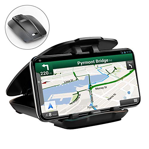 Supporto Auto Smartphone, Cocoda Porta Cellulare Auto per Cruscotto [Facile Apertura e Pieghevole] Compatibile con iPhone XS Max/XS/XR/X / 8 Plus / 7 / 6S, Sumsung, GPS e Altro (Nero)