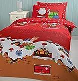 Weihnachten Rentier Robin Weihnachtsmann Geschenk Rot Doppelbettdecke Bettdecke Hülle