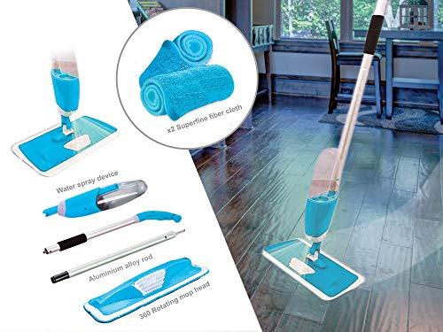KEPLIN Mopa Agua Microfibra Plana 700 ml Tanque, Azul