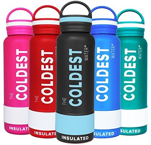 The Coldest Water Bottle Insulated Stainless Steel Hydro Thermos - Cold Up...