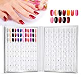 Palette d'Ongles Carte d'Affichage 216 couleurs Présentoir de Vernis à Ongles Nail Art Accessoire de Manucure (Blanc)