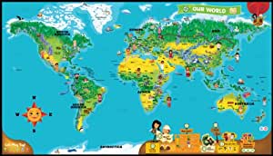 Leapfrog leapreader world map works with tag amazon toys share facebook twitter pinterest sciox Images