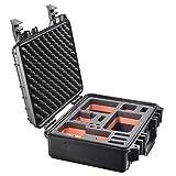Mantona Outdoor Schutz Koffer (Grösse M inkl. Schaumstoffinlay mit Fräsungen, geeignet für GoPro Hero 6 5 4 3+ 3 2 1, Session und andere kompatible Action Cams, Leichte Digital, Kompaktkameras) schwarz