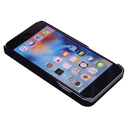Vero legno Hard Back Wood Custodie per iPhone 7, Skitic Ultra Sottile Case Copertura con Carvings Pattern Design Protettiva Copertina Cover Telefono Pelle Protezione Bumper per iPhone 7 - Lupo Cranio