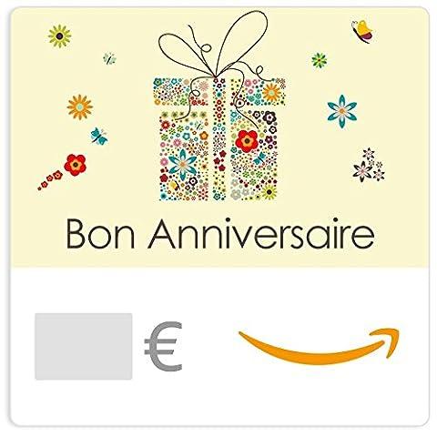 Chèque-cadeau Amazon.fr - E-mail - Paquet en fleur