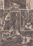 St. Johann im Pongau - Die Liechtensteinklamm bei St. Johann. Schönes Sammelblatt mit 6 Abbildungen. [Grafik]