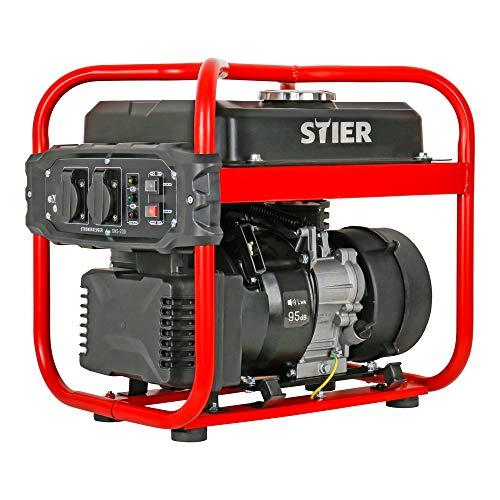 STIER Stromerzeuger SNS-200, Strom Generator, 10l Tankvolumen, 23 Kg, 65 dB(A)