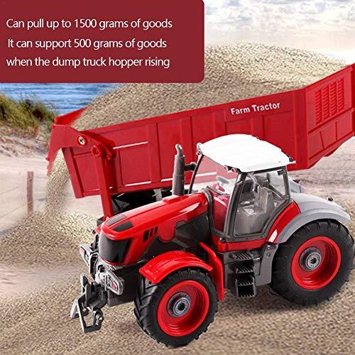 RC Auto kaufen Traktor Bild 4: 332PageAnn Rc Ferngesteuerter Traktor Spielzeug Mit Anhänger - 6 Kanal 1:28 Simulationsfahrzeug Geburtstagsgeschenk Für Kinder*