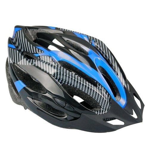 SODIAL(R) Casco Ciclismo Con Visera Azul Bici Bicicleta Mountain bike
