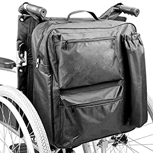 Multifunction Wheelchair Bag   Mobility Scooter Universal Backpack   Padded Rear Multi - Pocket High Quality Waterproof Storage   Pukkr