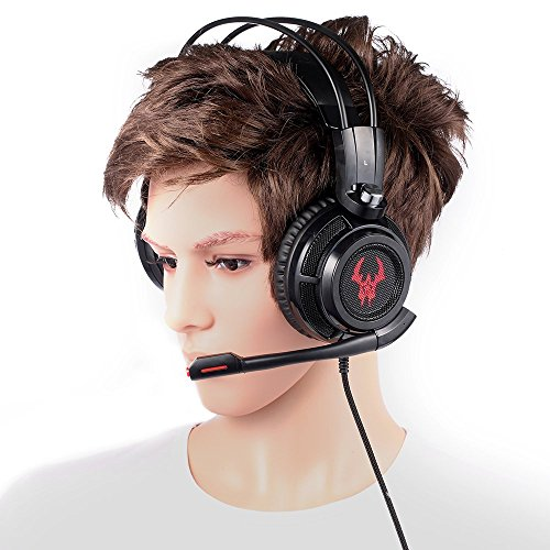 EasyAcc G1 Virtual 7.1 Surround-Sound Gaming Headset mit Vibrationsfunktion,USB PC,PS4 Gaming Kopfhörer - 9