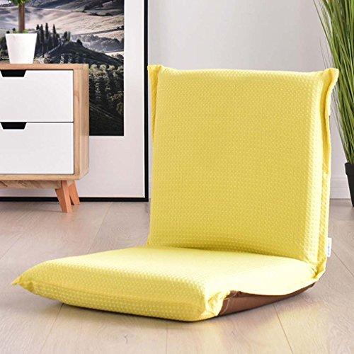 Lazy Sofa Individuelle Kleine Sofa Bett Stuhl Faltbare Bay Fenster Stuhl Computer Sofa Stuhl Hause Boden Stuhl ( Farbe : Gelb )