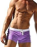 GFirmament Herren-Badehose / Shorts mit Reißverschluss-Tasche, violett, UK XL_(Asia Tag XXL)