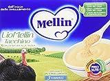 Mellin LioMellin Liofilizzati per Bambini, al Gusto Tacchino - Pacco da 18 pezzi x 3 Vasetti da 10 gr - Totale 540 gr