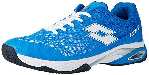 Lotto Viper Ultra III Cly, Zapatillas de Tenis para Hombre, Azul (Blu Atl / Wht), 42 EU