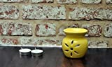 #10: FnP Handcrafted Aroma Diffuser with Tealight Candle (9x8, Yellow)