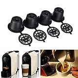 Unbekannt Home Decor Wiederverwendbare Kaffee Kapsel Cup, 4Pcs Nachfüllbar Kaffee Kapseln Pod Refilling Filter für Nespresso Maschine