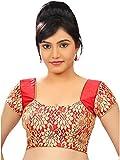 Kaavi Fab Women's Net Red Floral Print B...