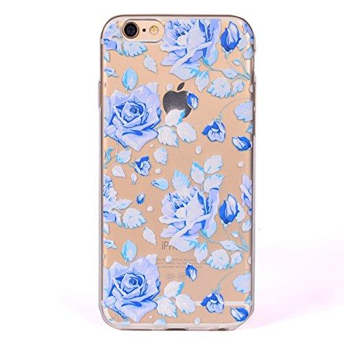 Coque iPhone 6, iPhone 6 Coque Silicone, SainCat Ultra Slim Transparent TPU Case pour iPhone 6/6S, Anti-Scratch Gel Housse Transparent Silicone Case, Support Protection Anti Choc Shell, Couvrir Etui d fantaisie Rose