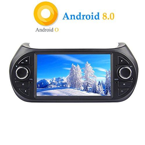 XISEDO Android 8.0 Autoradio 1 Din In-dash 7 Zoll Car Radio 8-Core RAM 4G ROM 32G Autonavigation Car Radio für Fiat Qubo/ Fiat Fiorino/ Peugeot Bipper/ Citroen Nemo 2008-2016 Unterstützt - 2014 Touchscreen Autoradio