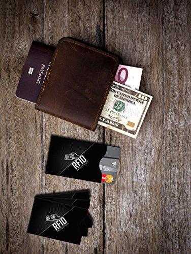 RFID Protection Schutzhülle (15 Stück) für Bankkarte, Personalausweis, EC-Karte, Kreditkarte und Reisepass - 100% Datenschutz durch Abschirmung von kontaktlosen RFID & NFC Funk-Chips