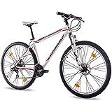 73,66 cm de montaña bicicleta de limpieza CHRISSON 2,0 con 21 G SHIMANO 2 x disco blanco