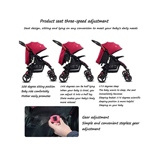 Twin Baby Stroller Sit/recumbent Lightweight Folding Detachable Ultralight Shock Absorber Bb Three-wheeled Trolley Suitable For 0-3 Years Old,L BABY CARRIAGE ZLMI ✿ detachable separately, easy to split and use independently, split twins advantage ✿ one set for three sets: 0-3 years old need one car, no need to buy another single car ✿ Alleviate the travel burden: the baby has their own car in independent action, the reinforced frame is strong in weight! It can bear the weight of two adults at the same time. 4