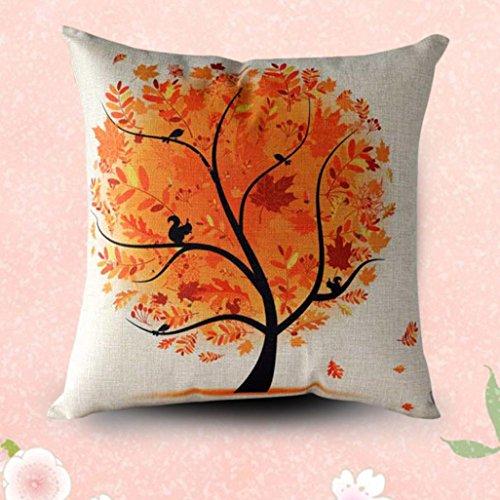 = Sannysis® fodere per cuscini federa vintage di cotone stampato floreale divano(orange) lista dei prezzi