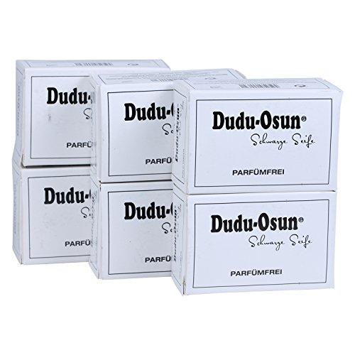Dudu-Osun Pure (parfümfrei) - Schwarze Seife aus Afrika (6 x 150 g) -