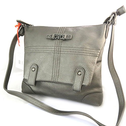 La bolsa de hombro 'Le Temps Des Cerises'de metal gris.