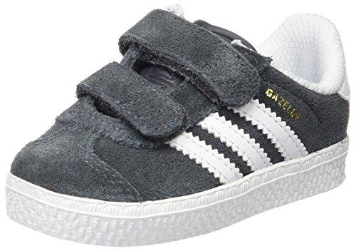 Adidas Gazelle 2 Cf, Chaussures Marche Mixte Bébé, Gris (Dgh Solid Grey/Dgh Solid Grey/Ftwr White), 19 EU