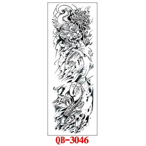 tzxdbh 3Pcs-Full Arm Tattoo Aufkleber Arm Tattoo Aufkleber Wasserdicht Tattoo Aufkleber tattoo3Pcs-12