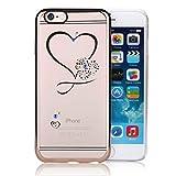 Unendlich U Hohles Herz Transparente Handy Zubehör Weiche Silikon Schutzhülle für iPhone 6 und für iPhone 6s 4,7 Zoll