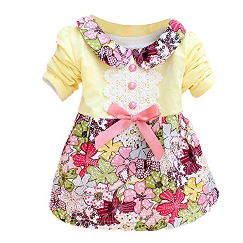 Silvercell Baby Kinder Blumenprinzessin Dress Bowknot One Piece Kleid Rock